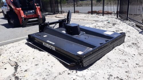 Skidsteer slasher attachment for hire Perth