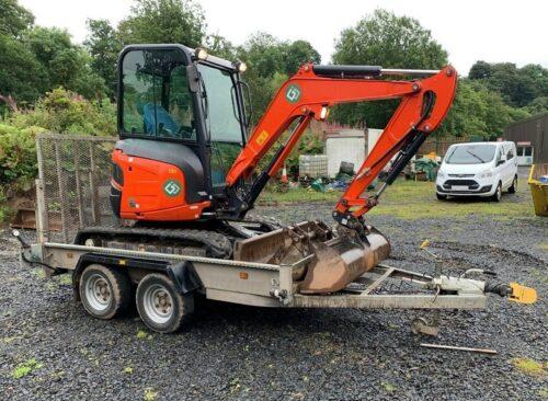 Kubota U27-4 Excavator Hire Perth